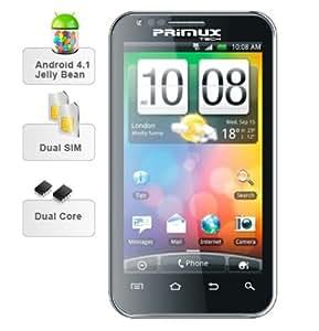 "Primux Alpha - Smartphone libre Android (pantalla 4.3"", dual SIM), negro"