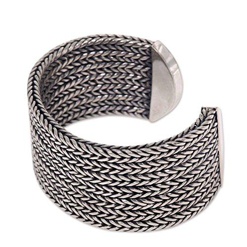 NOVICA .925 Sterling Silver Cuff Bracelet