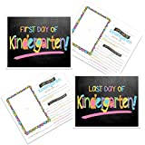 Denise Albright First Day & Last Day of School Photo Prop Sign - Pastel Chalkboard Text Choose from Preschool to College (Kindergarten)