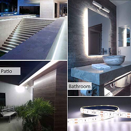 Amazon.com: Franja de Luz LED de Alta Densidad, Blanco cool ...
