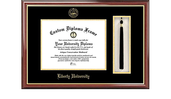 Amazon Com Campus Images Ncaa Liberty Flames Tassel Box And Diploma Frame Sports Outdoors