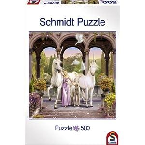 Schmidt Spiele 58000 Principessa Degli Unicorni Puzzle Da 500 Pezzi