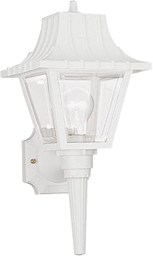 Sea Gull Lighting 8720-15 Polycarbonate Traditional One-Light Outdoor Wall Lantern Outside Fixture