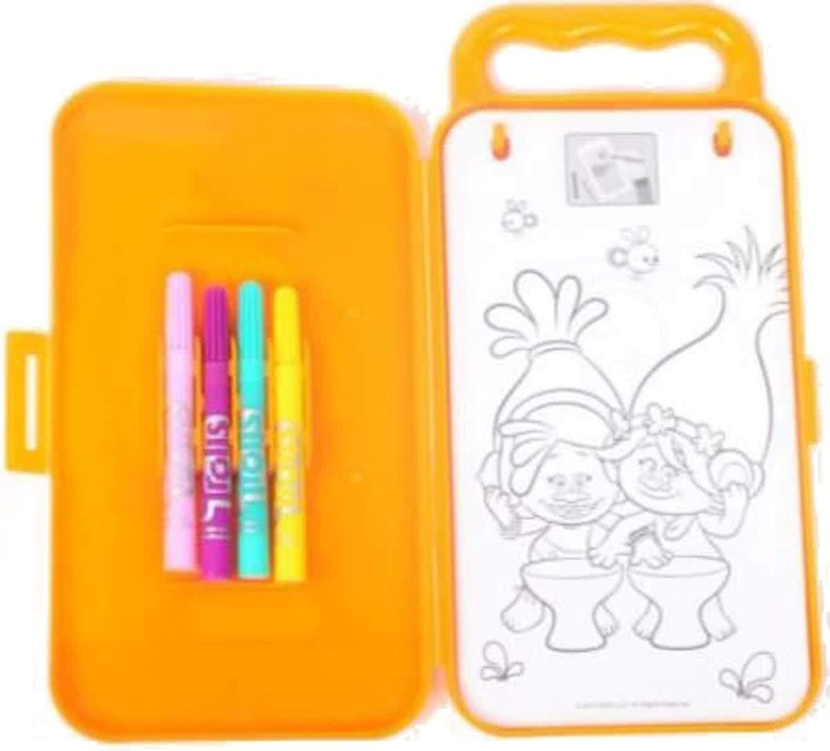 Trolls Poppy – Estuche pequeño para colorear de viaje – Lápices y hojas y pegatinas: Amazon.es: Hogar