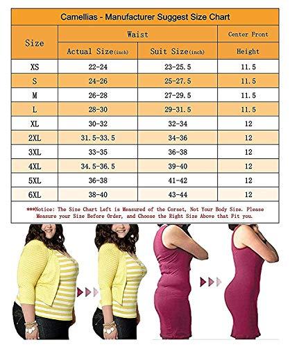 05fb05a6f3 SHAPERX Camellias Women Classic 3 Hooks Latex Waist Trainer Corset for Weight  Loss Waist Cincher Body