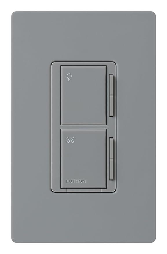 Lutron MA-ALFQ35-GR Maestro Companion Fan and Light Control, Gray - Ceiling Fan Wall Controls - Amazon.com