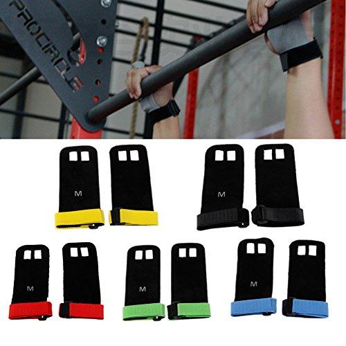 Elat Park Leather Hand Gymnastics Grip Glove Cross fit Guard Palm Protectors Pull Up Bar