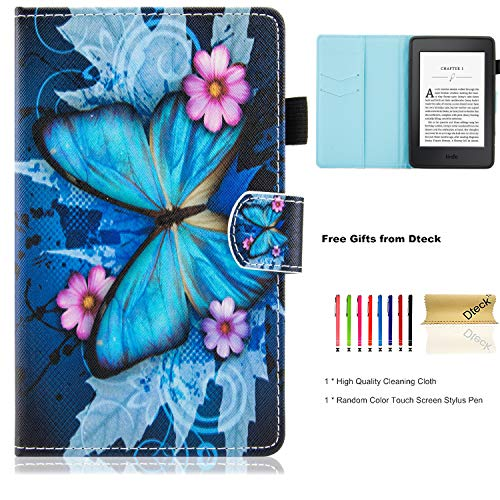 Kindle Paperwhite E-reader Case, Dteck Flip Folio Pretty Cute Smart Case with [Stylus Pen Holder] Synthetic Leather Magnetic Wallet Cover for Amazon Kindle ()