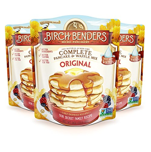 All Natural Original Recipe Pancake and Waffle Mix by Birch Benders, Non-GMO Verified, 72 Ounce (24oz 3-pack)