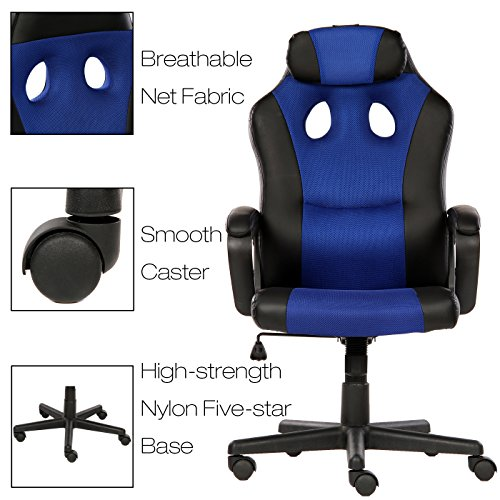 Seatzone Smile Face Series Leather Gaming Chair Racing