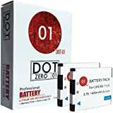 2x DOT-01 Brand Canon ELPH 180 IS Batteries for Canon ELPH 180 IS Camera and Canon 180 IS Battery Bundle for Canon NB11L NB-11L