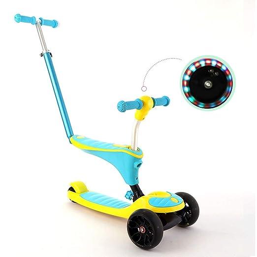 CHYEC Scooters con empuñadura 3 en 1 niño 4 Ruedas Patada ...