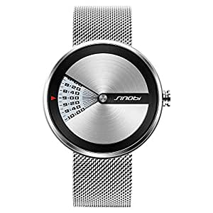 SINOBI Casual Watch For Men Analog Stainless Steel - 1111SILVER