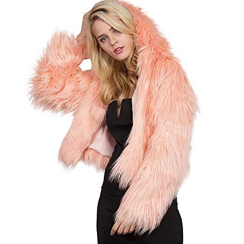Herbe Yvelands Liquidation Unie Couleur Cardigan Longues Imitation Femme Fluff Veste Manches rp4qpnI