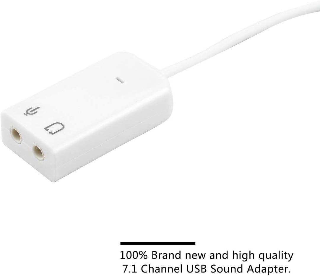 Disponibile Noradtjcca Adattatore Scheda Audio Audio Desktop USB 2.0 3D Virtual Channel per Windows 7