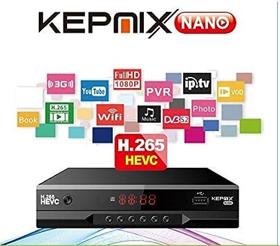 vs freesat v7 hevc Receptor de satélite Kepnix Nano h.265 iptv m3u ...