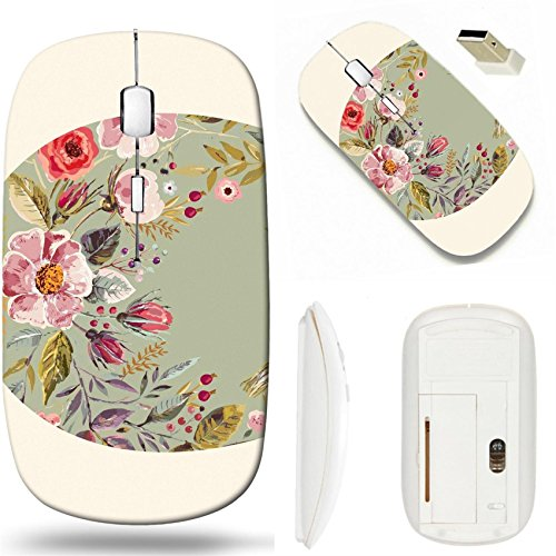 (MSD Wireless Mouse White Base Travel 2.4G Wireless Mice with USB Receiver, Noiseless and Silent Click with 1000 DPI for notebook, pc, laptop, computer, mac book design 36399574 Holiday card with easte)