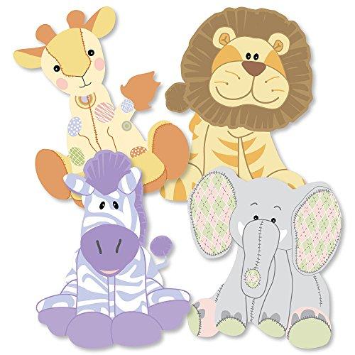 Zoo Crew - Giraffe, Elephant, Zebra and Lion Decorations DIY Baby Shower or Birthday Party Essentials - Set of 20 ()