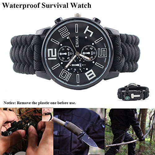 Emergency Survival Kit 8 in 1, Multi Professional Survival Tools Outdoor Hunting Gear for Traveling Hiking Biking Climbing Camping