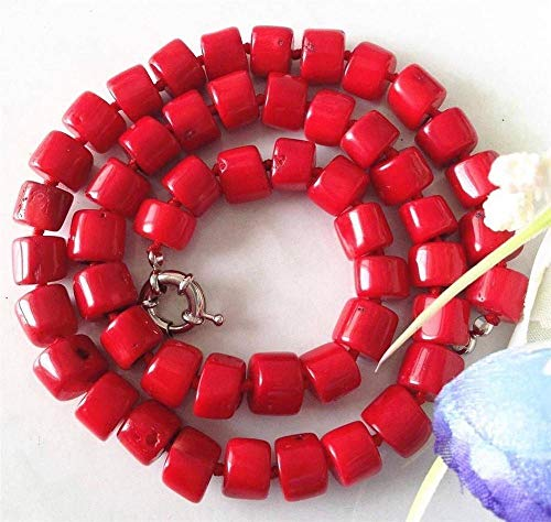 Charming! Natural Red Sea Coral Necklace 18
