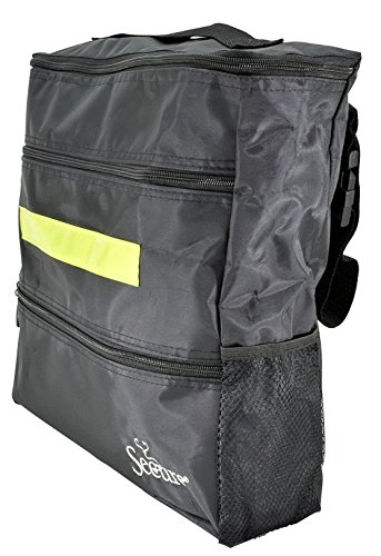 Secure WBP-1B Wheelchair Storage Backpack Bag with Multiple Pockets and Nighttime Safety Reflector, Black (13'' x 12.5''x 3'') by Secure (Image #5)