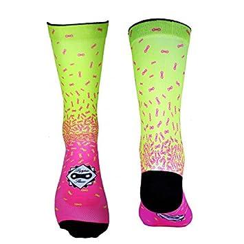 doppio slavo calcetin m pink-yellow fluor: Amazon.es: Deportes y aire libre