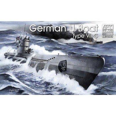 U-Boat Type VII C Submarine 1-350 AFV Club