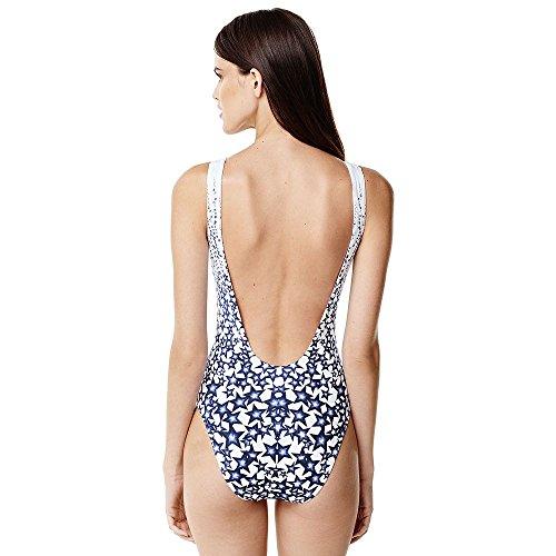 62775653a9 Lands' End Canvas Women's Scoopneck One Piece Swimsuit, 8, Deep Sea Raining  Stars