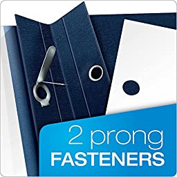 Oxford Premium Clear Front Report Covers, Letter Size, Dark Blue, 25 per Pack (58802EE)