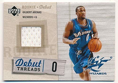 BIGBOYD SPORTS CARDS Gilbert Arenas 2005/06 UD Upper Deck Rookie Debut Threads RELIC Jersey SP F1