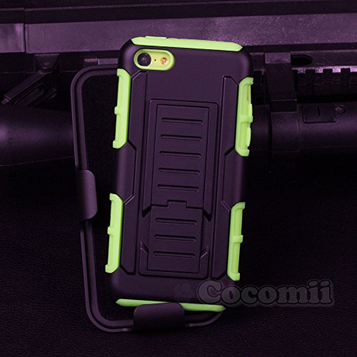 Cocomii Robot Armor iPhone 5C Case NEW [Heavy Duty] Premium Belt Clip Holster Kickstand Shockproof Hard Bumper Shell [Military Defender] Full Body Dual Layer Rugged Cover for Apple iPhone 5C - Highest 4 Case Ipad Rated