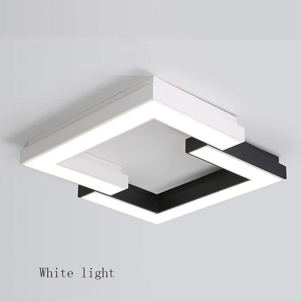 Haiyao シーリングライトスクエアとコンビネーションLEDアイアンランプボディアクリルシェードクリエイティブジオメトリーシンプルモダンルームランプ省エネ (Color : 52*52cm, サイズ : Monochrome Warm Light) B07PLKRXDK 52*52cm Monochrome White Light Monochrome White Light|52*52cm