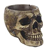 Cool Ashtray, Death Curse Metallica Human Skull Ashtray, Hand-painted Gothic Style Cigarette Ashtray for Men & Women. JHP … (brown)