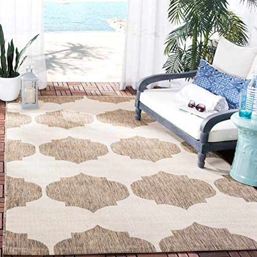 Safavieh Courtyard Collection CY6162-232 Beige and Brown Indoor/ Outdoor Area Rug (9' x 12')