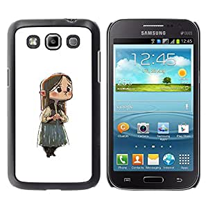 Shell-Star Arte & diseño plástico duro Fundas Cover Cubre Hard Case Cover para Samsung Galaxy Win / I8550 / I8552 / Grand Quattro ( Japanese Anime Girl Sad Big Eyes Child )