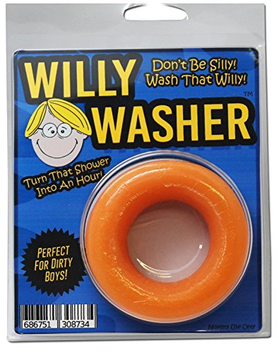 Willy Washer - Don't Be Silly Wash That Willy - Funny Gag Gifts for Men Naughty Gifts for Guys Silly Stocking Stuffers Wiener Cleaner Dick Soap by Gears Out