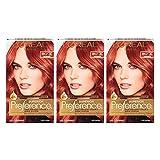 L'Oréal Paris Superior Preference Permanent Hair Color, RR-07 Intense Red Copper, 3 Count