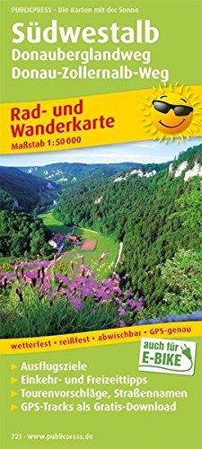 Südwestalb, Donauberglandweg, Donau-Zollernalb-Weg: Rad- und Wanderkarte mit Ausflugszielen, Einkehr- & Freizeittipps, wetterfest, reißfest, ... 1:50000 (Rad- und Wanderkarte / RuWK)