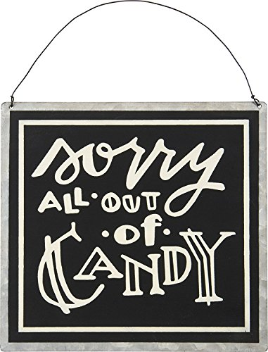 Sorry All Out of Candy Decorative Metal Halloween Door (No Candy For Halloween)