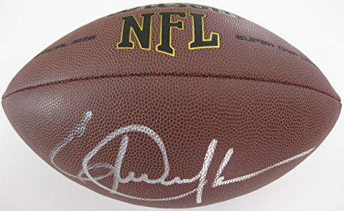 (Eric Dickerson, Los Angeles Rams, LA Rams, Indianapolis Colts, Hof, Signed, Autographed, NFL Football, a COA with the Proof Photo of Eric Signing Will Be Included)