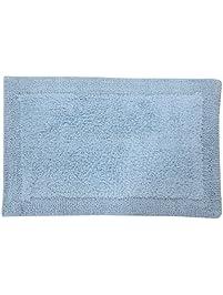Castle Hill Bella Napoli 100% Cotton Reversible Bath Rug 24X40 Light Blue