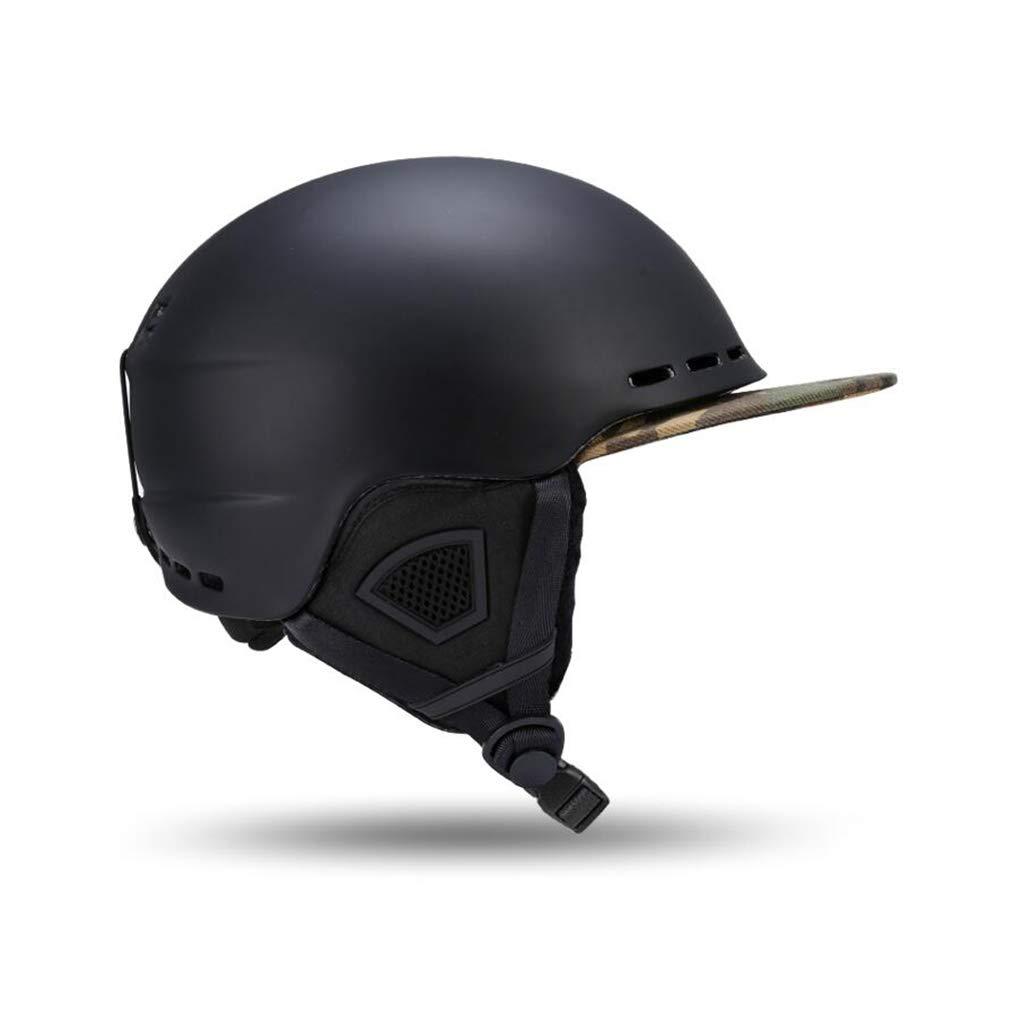 割引価格 スキー L&スノーボード用ヘルメット、スキー用保護安全帽スケートボードスケート用ヘルメット調節可能なヘッドバンド付きキャップひさし B07PTQCFCQ B07PTQCFCQ 黒 L l l L l|黒, HIDLED通販のfcl:37a927d0 --- a0267596.xsph.ru