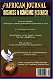 img - for African Journal of Business and Economic Research vol 3 Nos 2&3 2008 book / textbook / text book