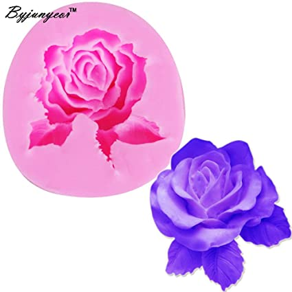 Amazon.com: 1 piece Byjunyeor F1008 Fondant Silicone Rose Mold 3D Flower Moldes De Silicona Cake Decorating Tools Silicon Molds Paste: Kitchen & Dining