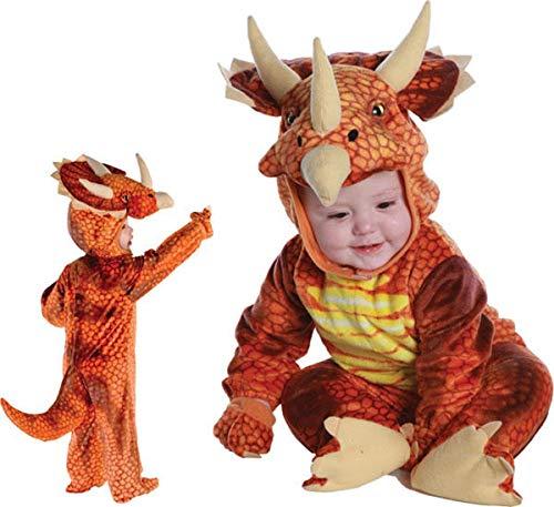 Underwraps Costumes Baby's Triceratops Costume Jumpsuit, Rust, Large (2T-4T) ()