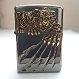 Zippo Tiger Claw BI Lighter / Genuine Authentic / Original Packing (6 Flints set Free Gift)