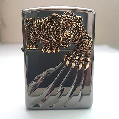Zippo Tiger Claw BI Lighter / Genuine Authentic / Original Packing (6 Flints set Free Gift)