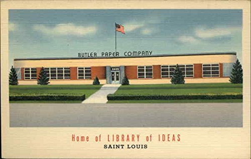 Butler Paper Company - Home of Library of Ideas St. Louis, Missouri Original Vintage Postcard from CardCow Vintage Postcards