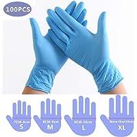 100 guantes desechables guantes en caja Guantes de PVC disponibles higi/énicos transparentes guantes protectores de seguridad desechables L