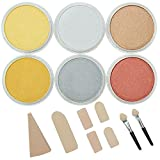 Colorfin PanPastel Ultra Soft Artist Metallic Pastel Set, 9ml, Set of 6, 6-Pack